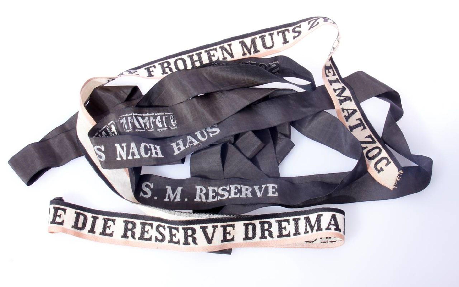 Reservisten Mützenbänder KaisserreichVerschiedene Mützenbänder und Reservebänder aus der