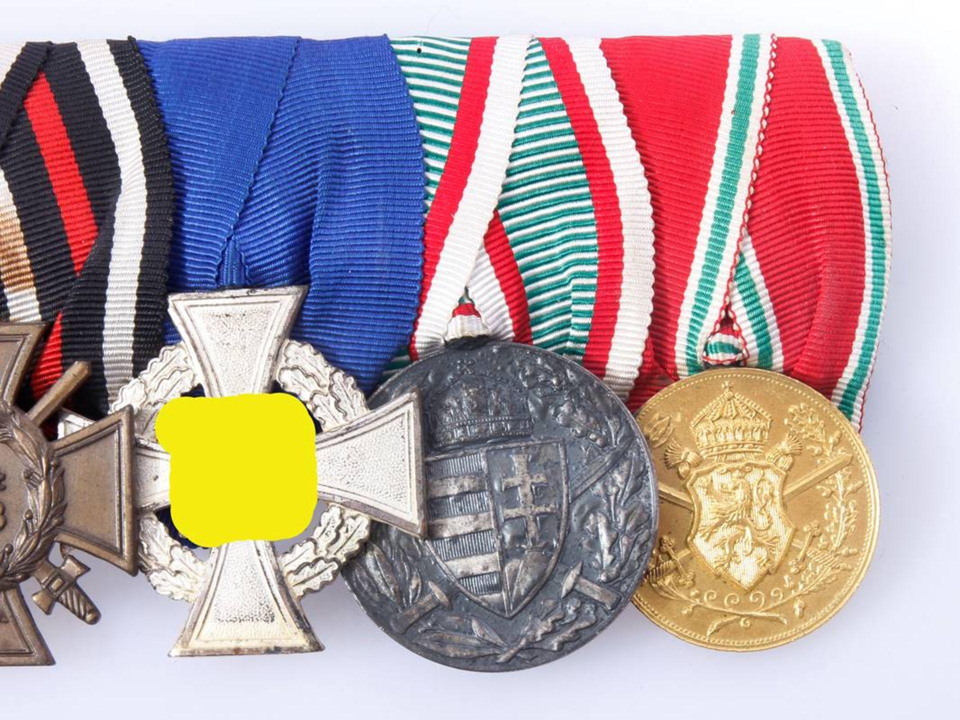 Ordensschnalle mit 6 Auszeichnungen WK 1 und WK 2Eisernes Kreuz 2.Klasse 1914, - Bild 3 aus 4