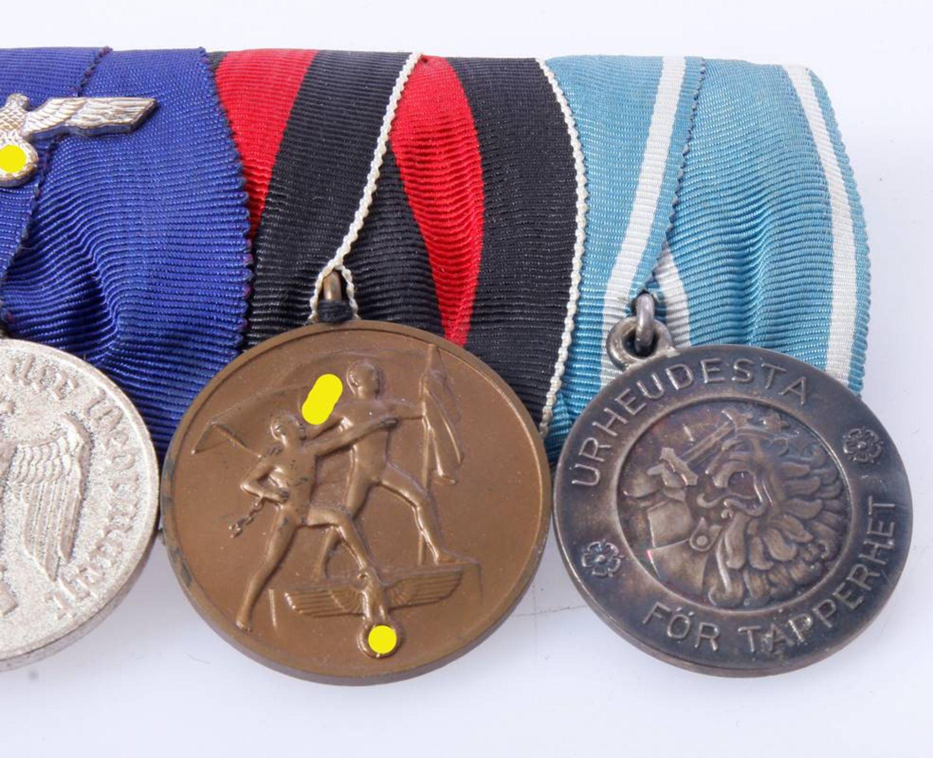 Ordenschnalle mit 4 AuszeichnungenEisernes Kreuz 2. Klasse 1939 , Dienstauszeichnung Wehrmacht 4 - Bild 6 aus 6