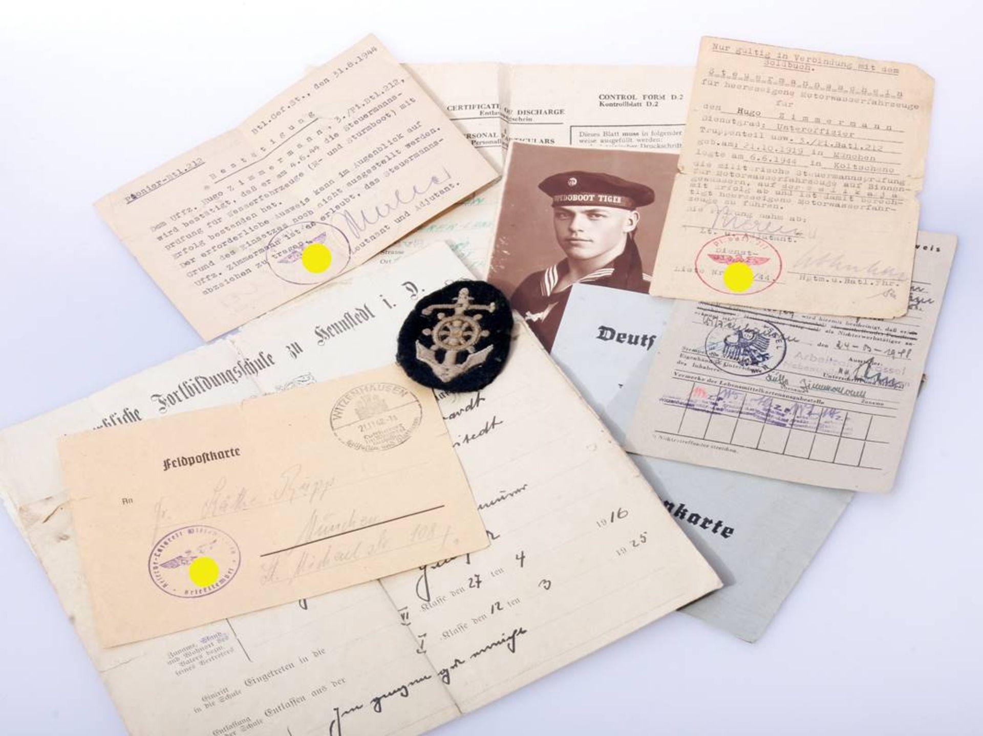 Nachlass eines Pionier Steuermanns für Sturmboote WehrmachtPapiere , Fotos und