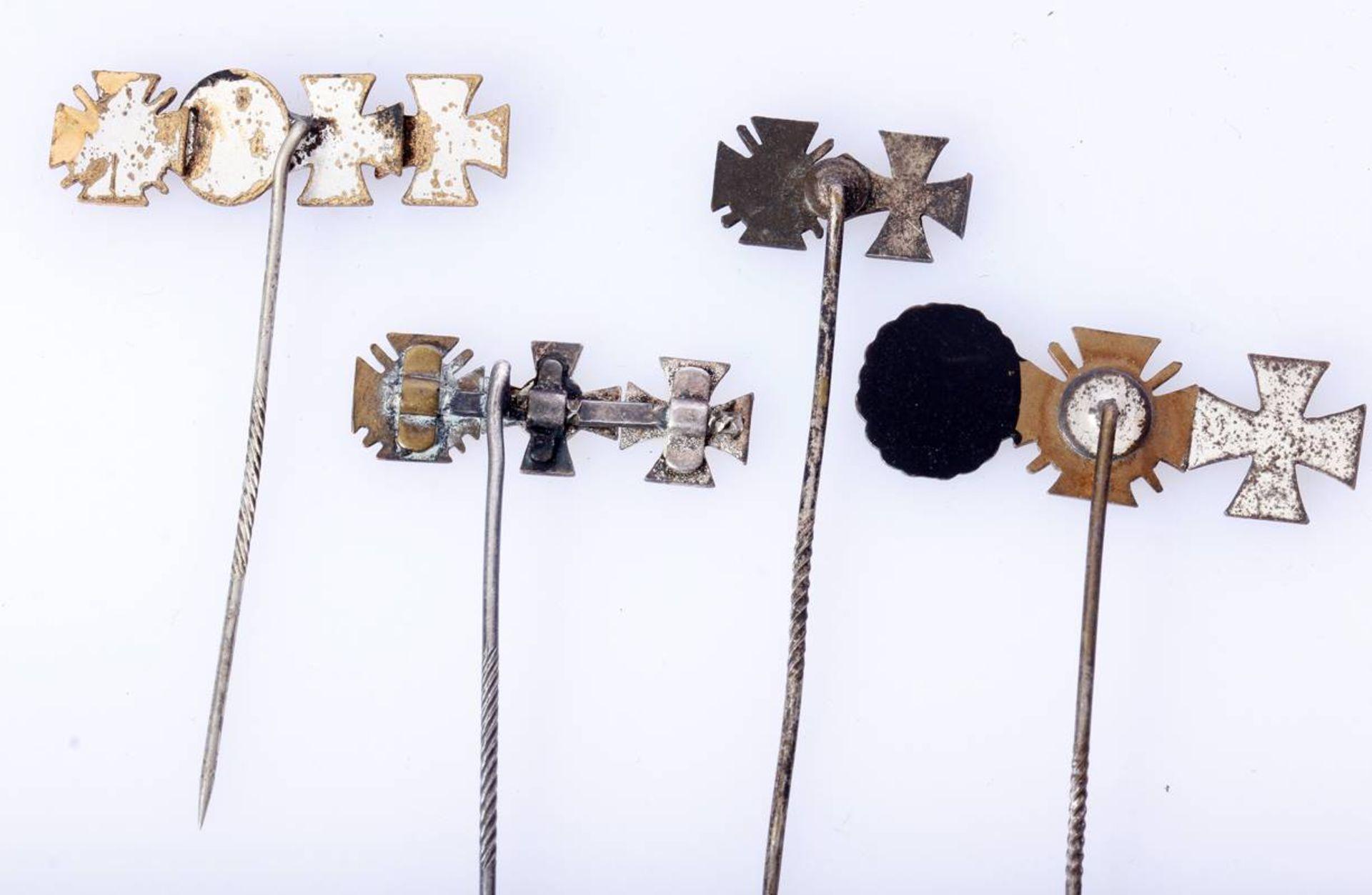 4 x Miniaturen 1. Weltkrieg an langer Nadel4 er Miniatur EK 1, EK 2 , VwA und FEK / 3 er Miniatur EK - Bild 2 aus 2