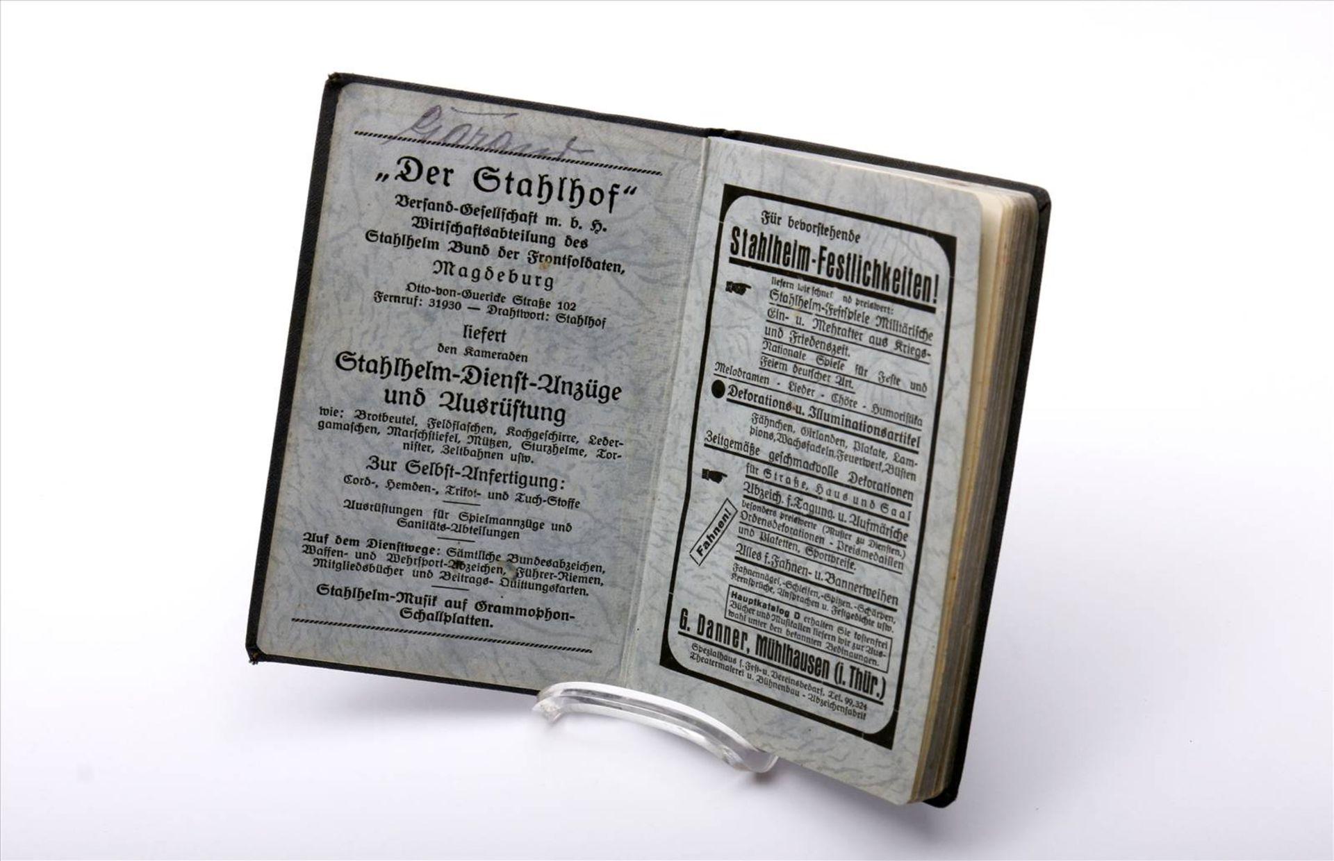 """Buch """"Der Stahlhelm, 1934"""", Taschenkalender - Bild 2 aus 5"""