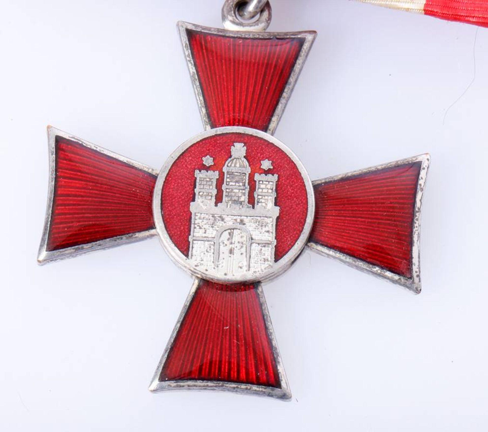 Hanseatenkreuz HamburgKreuz aufgehängt an der alten Form der Einzelschnalle. - Bild 3 aus 3