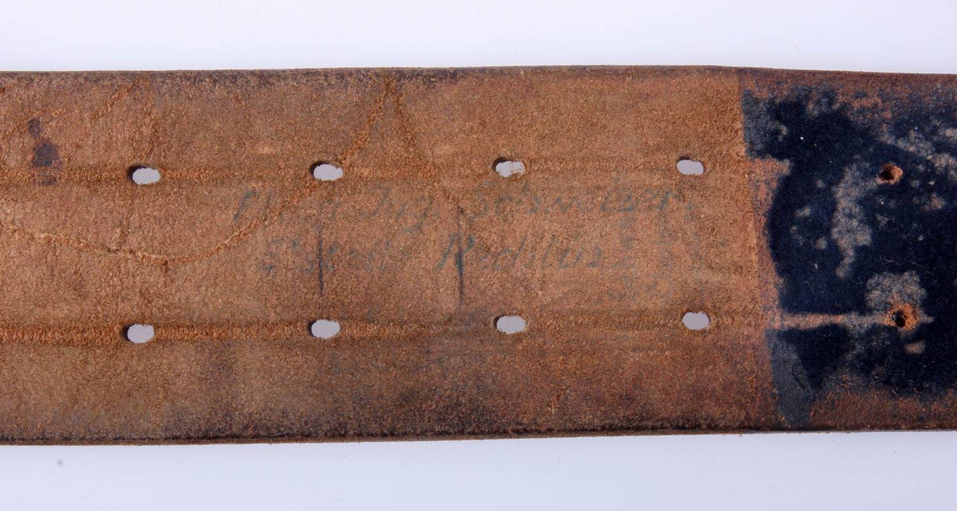2 x Koppel für Offiziere der Wehrmacht2 x Koppel für Offiziere mit Aluminium Schließen, Leder - Bild 7 aus 7