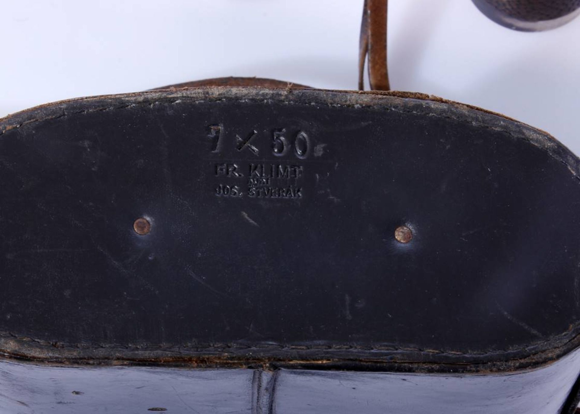 Marinefernglas DE 7 x 50Schwarzes Marinefernglas 7 x 50 DE Karl Zeiss Jena mit Abnahmestempel, - Bild 3 aus 7