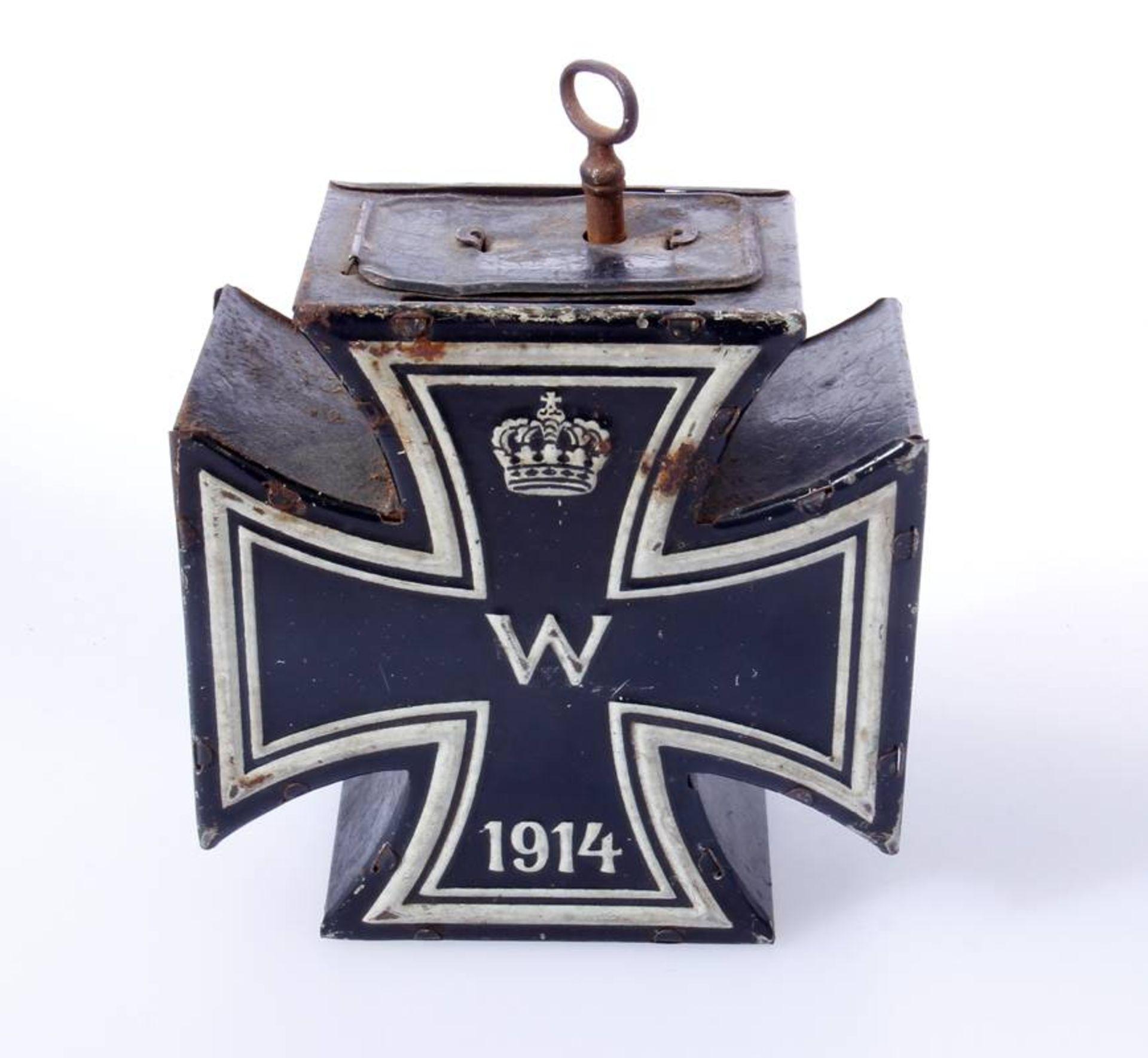 Spardose Eisernes Kreuz 2. Klasse 1914Großes Kreuz in der Form des Eisernen Kreuze 1914. Spardose