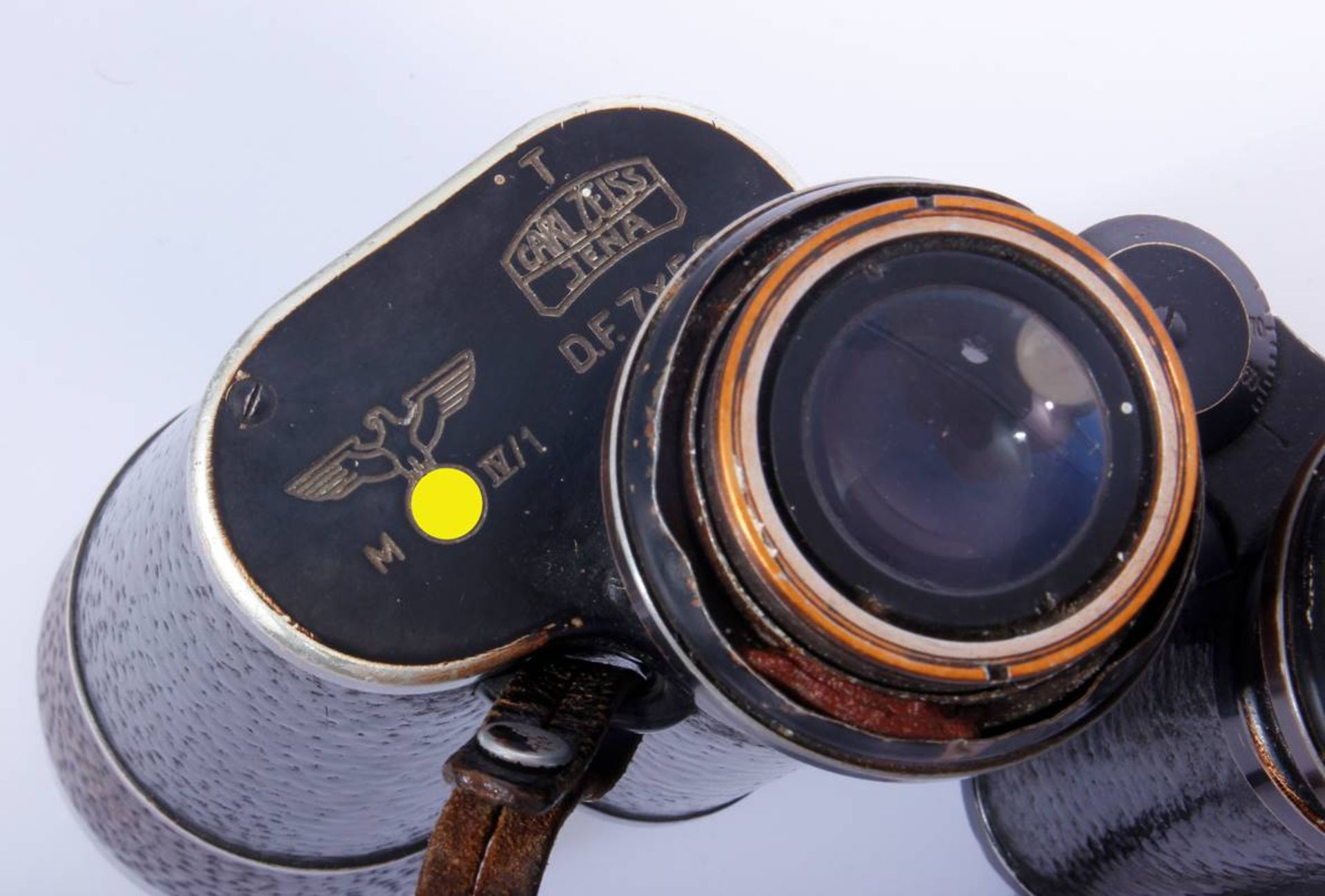Marinefernglas DE 7 x 50Schwarzes Marinefernglas 7 x 50 DE Karl Zeiss Jena mit Abnahmestempel, - Bild 7 aus 7