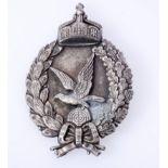 Preussen Abzeichen für Fliegerschützen 1918Abzeichen hohl geprägt mit Trägernadel. Gegenhaken