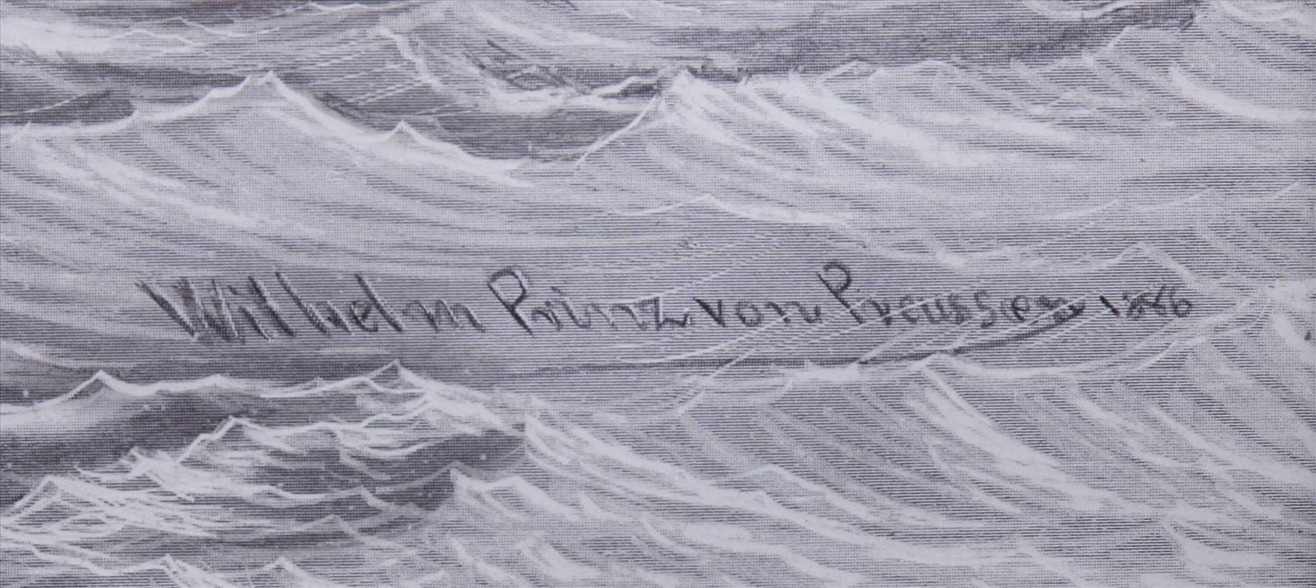 Wilhelm Prinz von Preußen, Kriegsschiffe der MarineDruck nach einem Gemälde, 1886, u.r. im Blatt - Bild 4 aus 6