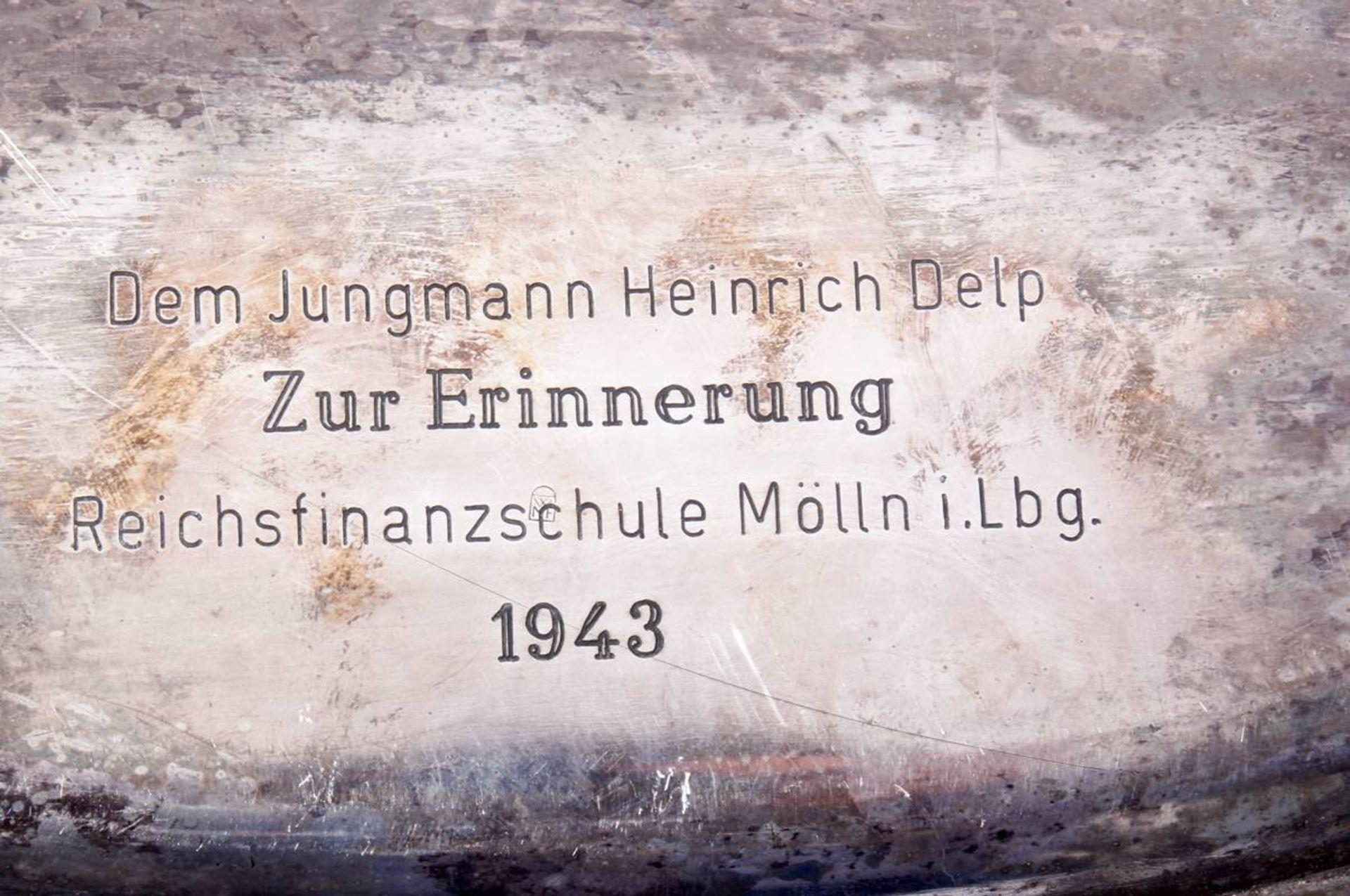 Reichsfinanzverwaltung Schale mit Hoheitsadler und RFVRückseitig mit 800 gestempelt und - Bild 4 aus 4