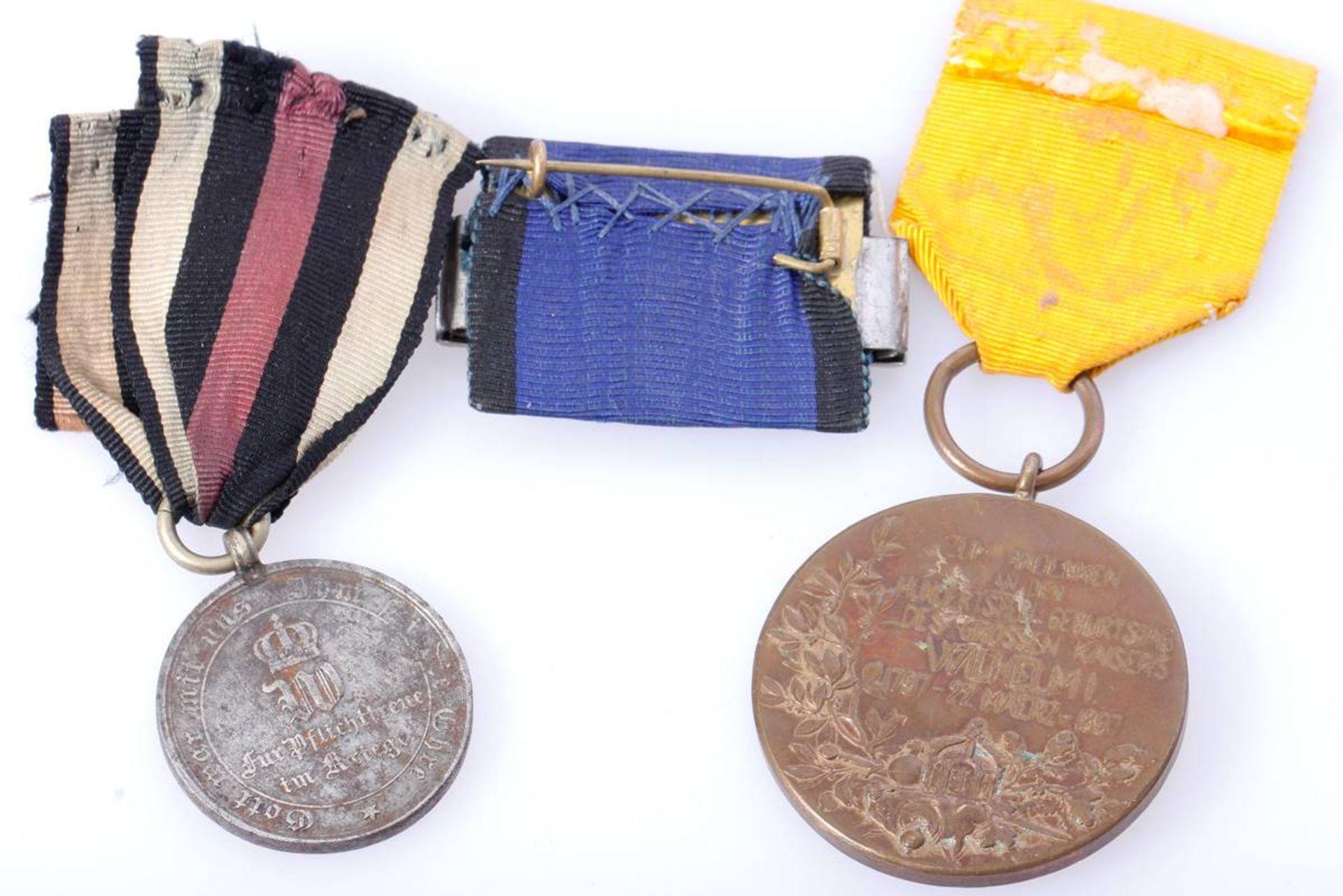 Posten mit drei Abzeichen PreußenPreußen, Militär-Dienstauszeichnung (1. Modell), III. Klasse, - Bild 2 aus 2