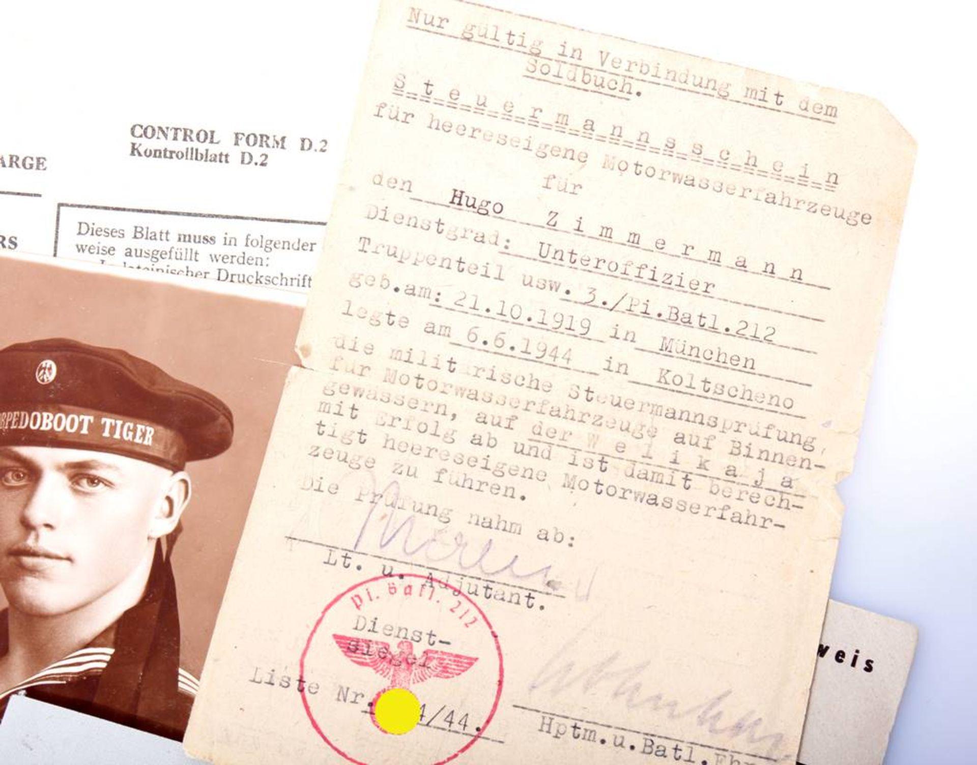 Nachlass eines Pionier Steuermanns für Sturmboote WehrmachtPapiere , Fotos und - Bild 3 aus 3