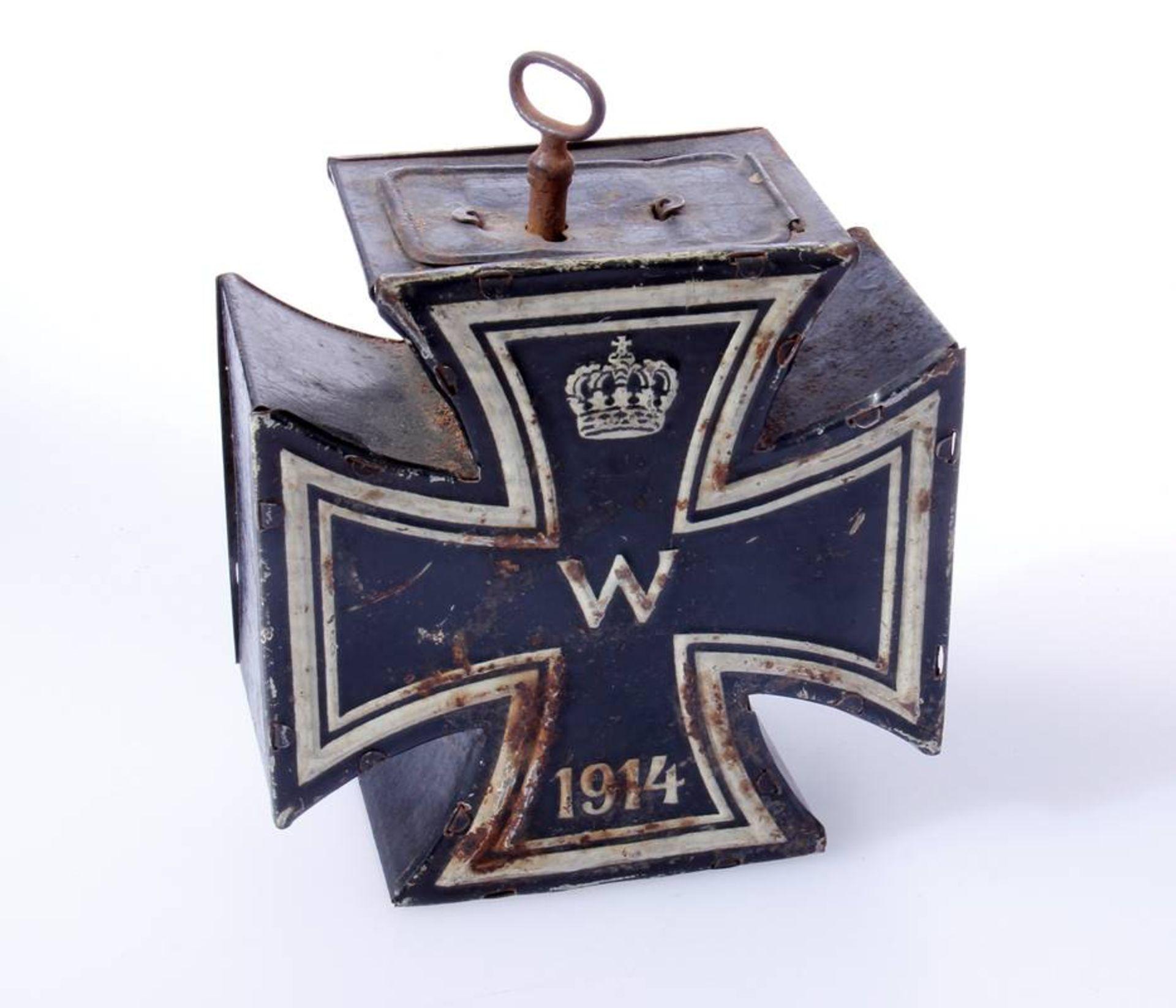 Spardose Eisernes Kreuz 2. Klasse 1914Großes Kreuz in der Form des Eisernen Kreuze 1914. Spardose - Bild 2 aus 4