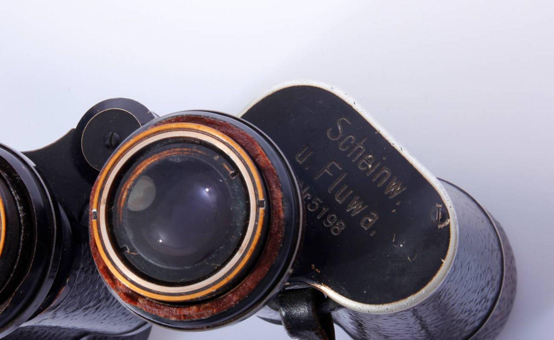 Marinefernglas DE 7 x 50Schwarzes Marinefernglas 7 x 50 DE Karl Zeiss Jena mit Abnahmestempel, - Bild 6 aus 7