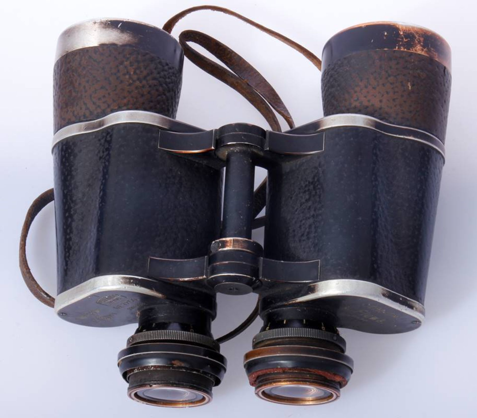 Marinefernglas DE 7 x 50Schwarzes Marinefernglas 7 x 50 DE Karl Zeiss Jena mit Abnahmestempel, - Bild 4 aus 7