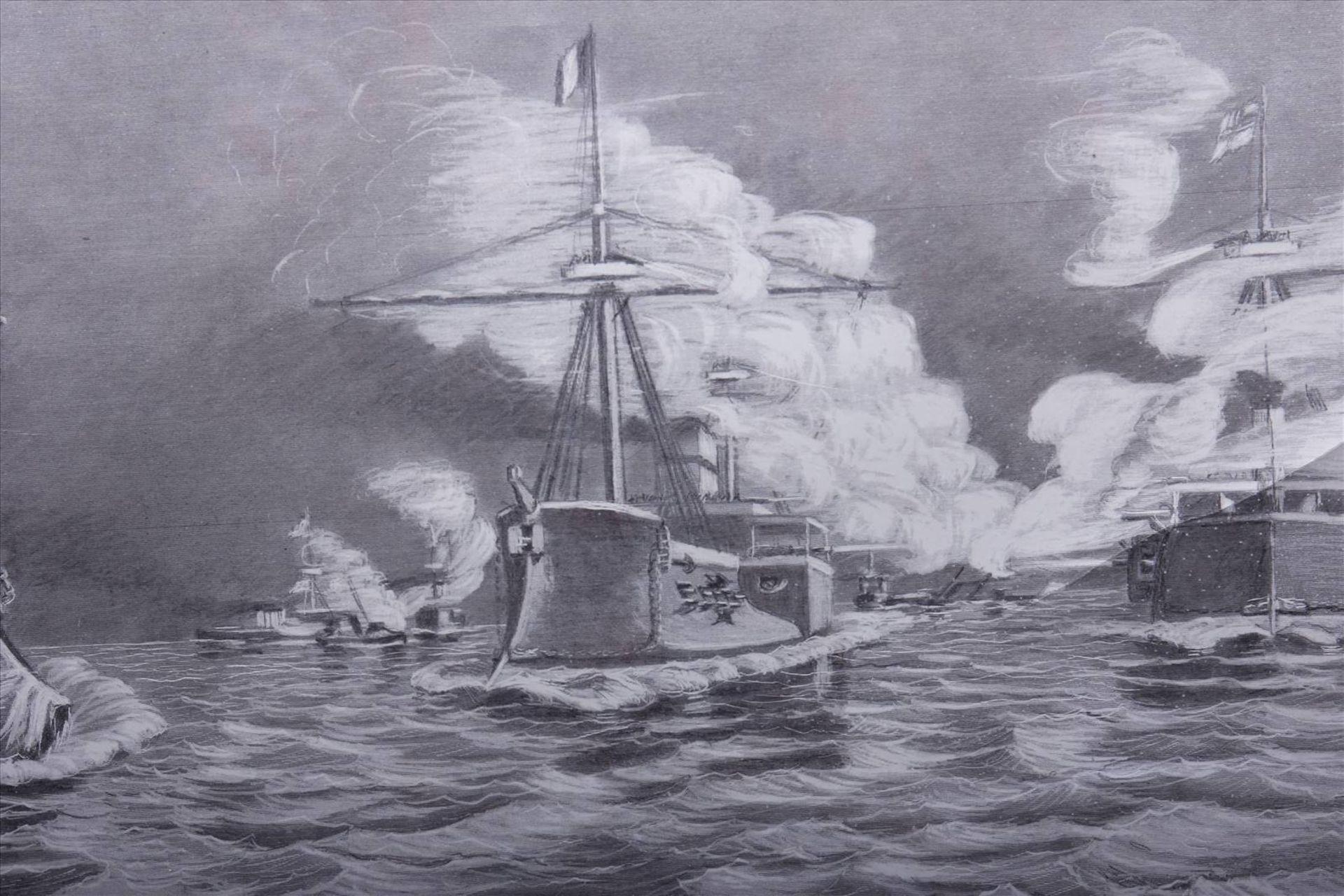 Wilhelm Prinz von Preußen, Kriegsschiffe der MarineDruck nach einem Gemälde, 1886, u.r. im Blatt - Bild 5 aus 6