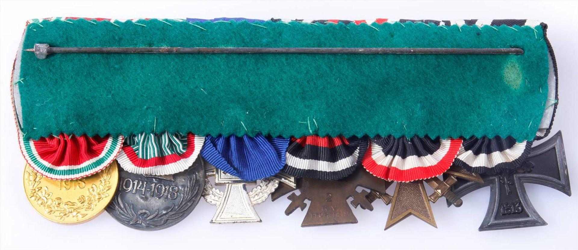 Ordensschnalle mit 6 Auszeichnungen WK 1 und WK 2Eisernes Kreuz 2.Klasse 1914, - Bild 2 aus 4