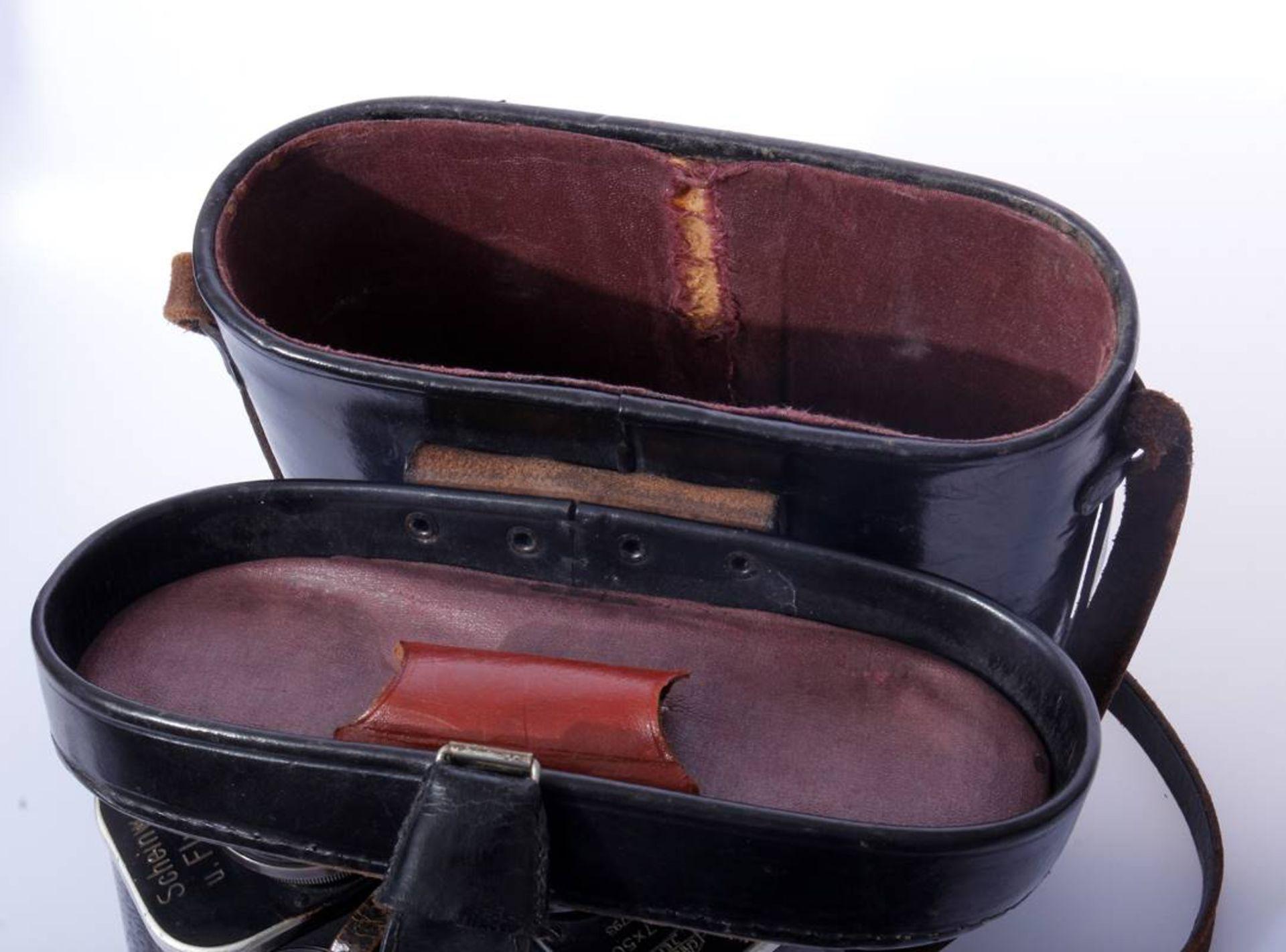 Marinefernglas DE 7 x 50Schwarzes Marinefernglas 7 x 50 DE Karl Zeiss Jena mit Abnahmestempel, - Bild 2 aus 7