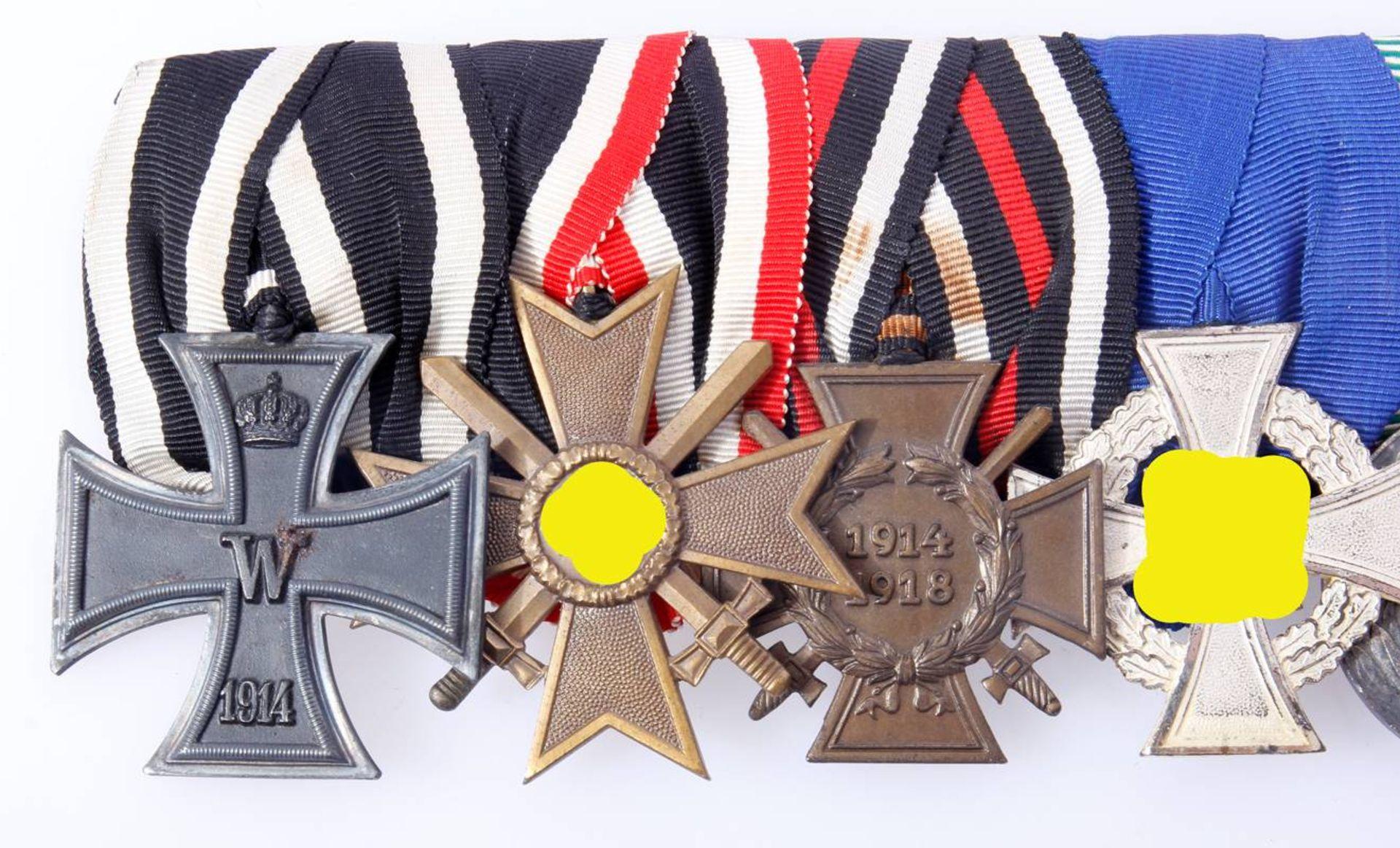 Ordensschnalle mit 6 Auszeichnungen WK 1 und WK 2Eisernes Kreuz 2.Klasse 1914, - Bild 4 aus 4