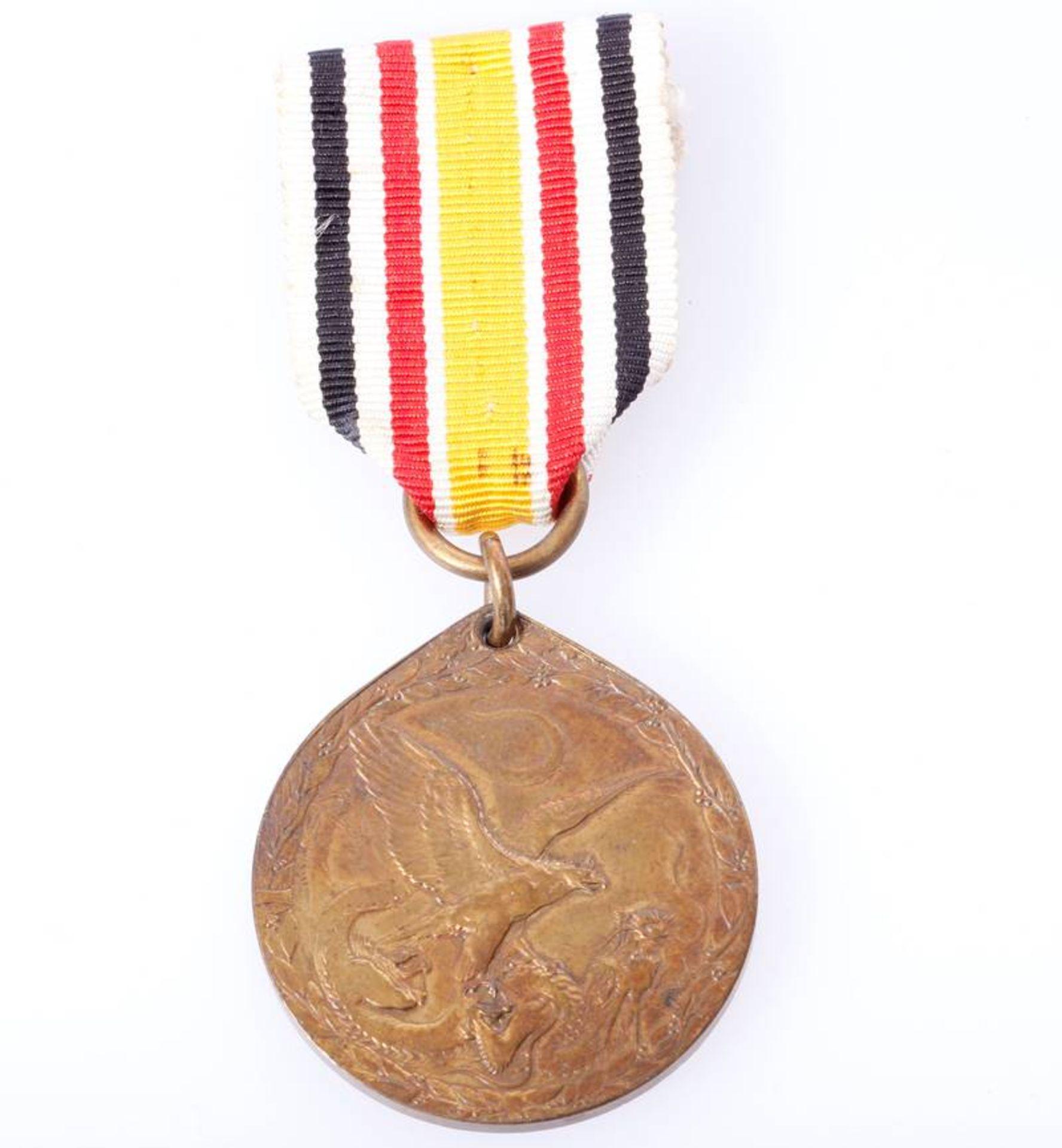 China Denkmünze für Nichtkämpfer 1901Ausführung in Bronze am langen Band.