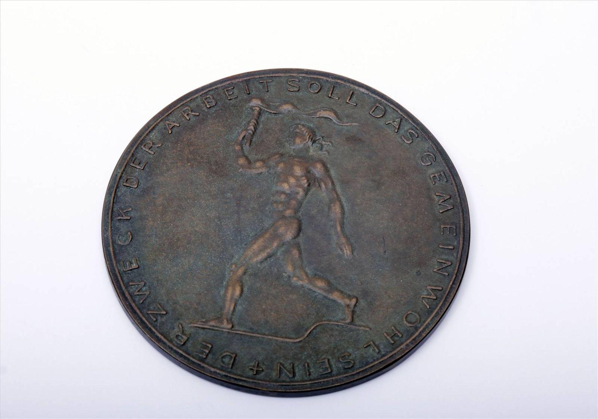 """Medaille """"Für Verdienste um die Technik""""Abzeichen mit Miniatur im Etui. Medaille Durchmesser 90 - Bild 3 aus 7"""
