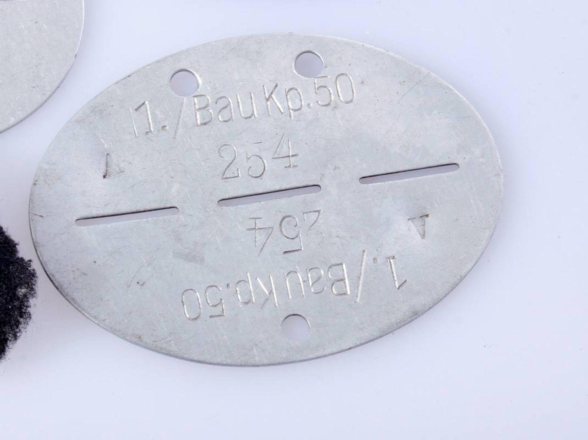 3 x Erkennungsmarken WehrmachtErkennungsmarken der Infanterie und einer Baukompanie Wehrmacht. - Bild 3 aus 5