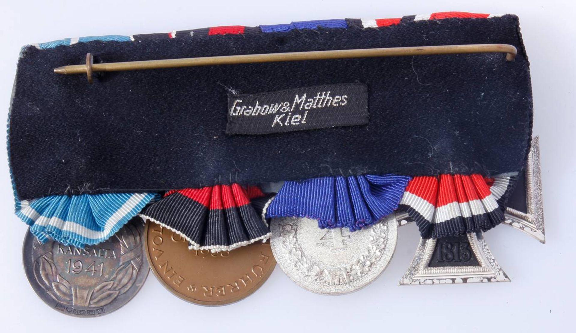 Ordenschnalle mit 4 AuszeichnungenEisernes Kreuz 2. Klasse 1939 , Dienstauszeichnung Wehrmacht 4 - Bild 2 aus 6
