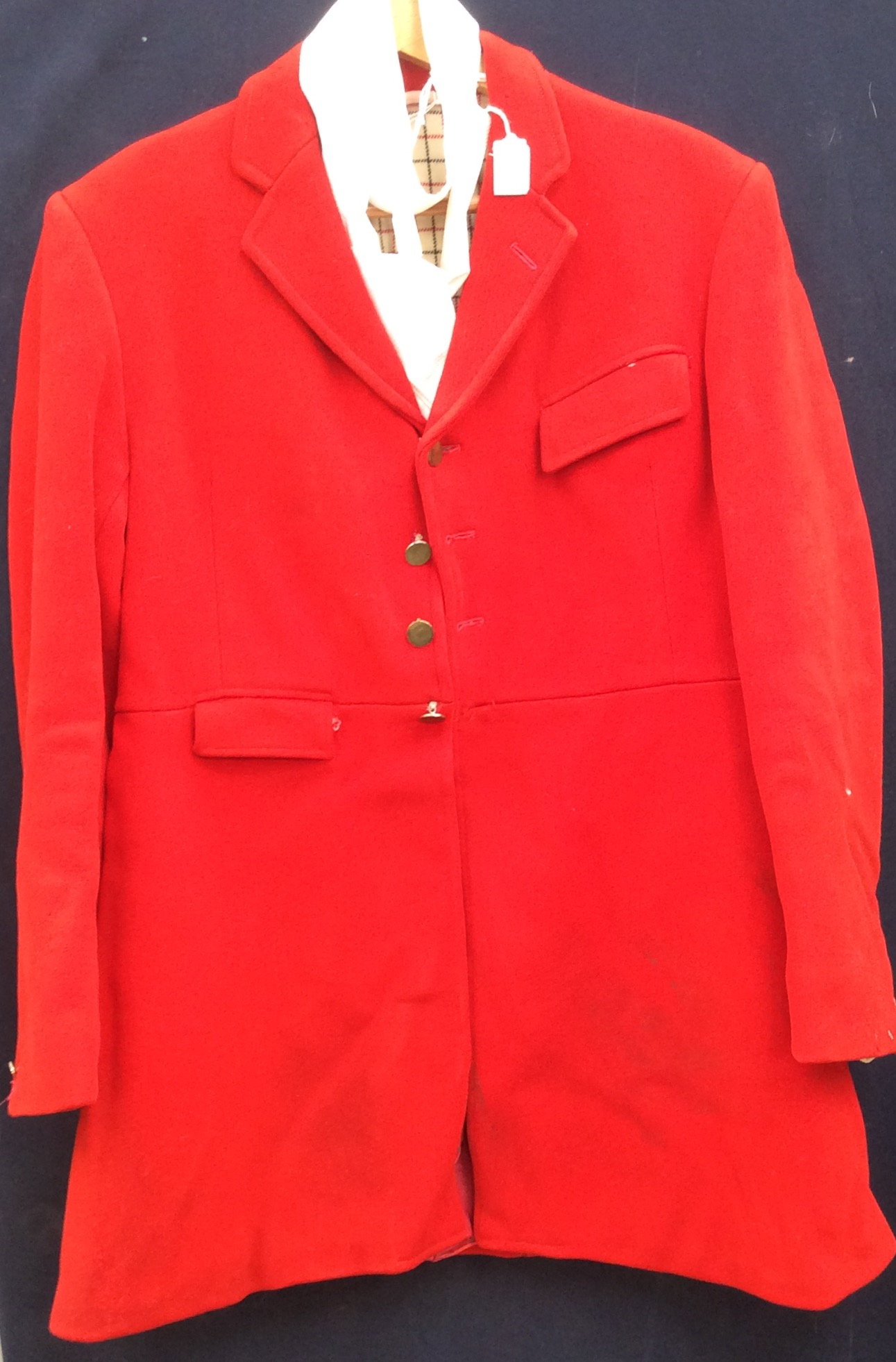 584d9691d90d8 Lot 2414 - A Harry Hall red wool hunting jacket with a cream / red /