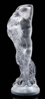 "Lot 55 - A Rene Lalique limited edition frosted and clear crystal figure ""Grande Nue Nereides"", etched """
