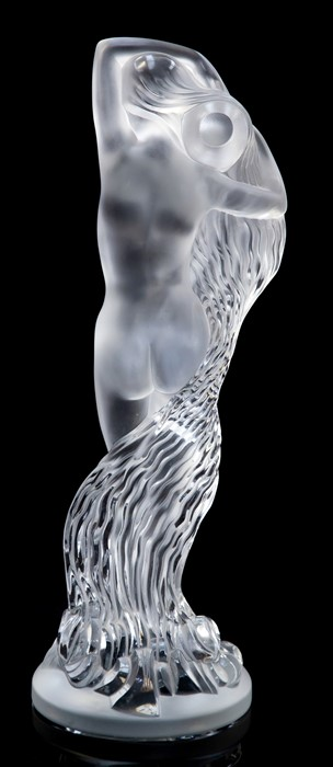 """Lot 55 - A Rene Lalique limited edition frosted and clear crystal figure """"Grande Nue Nereides"""", etched """""""