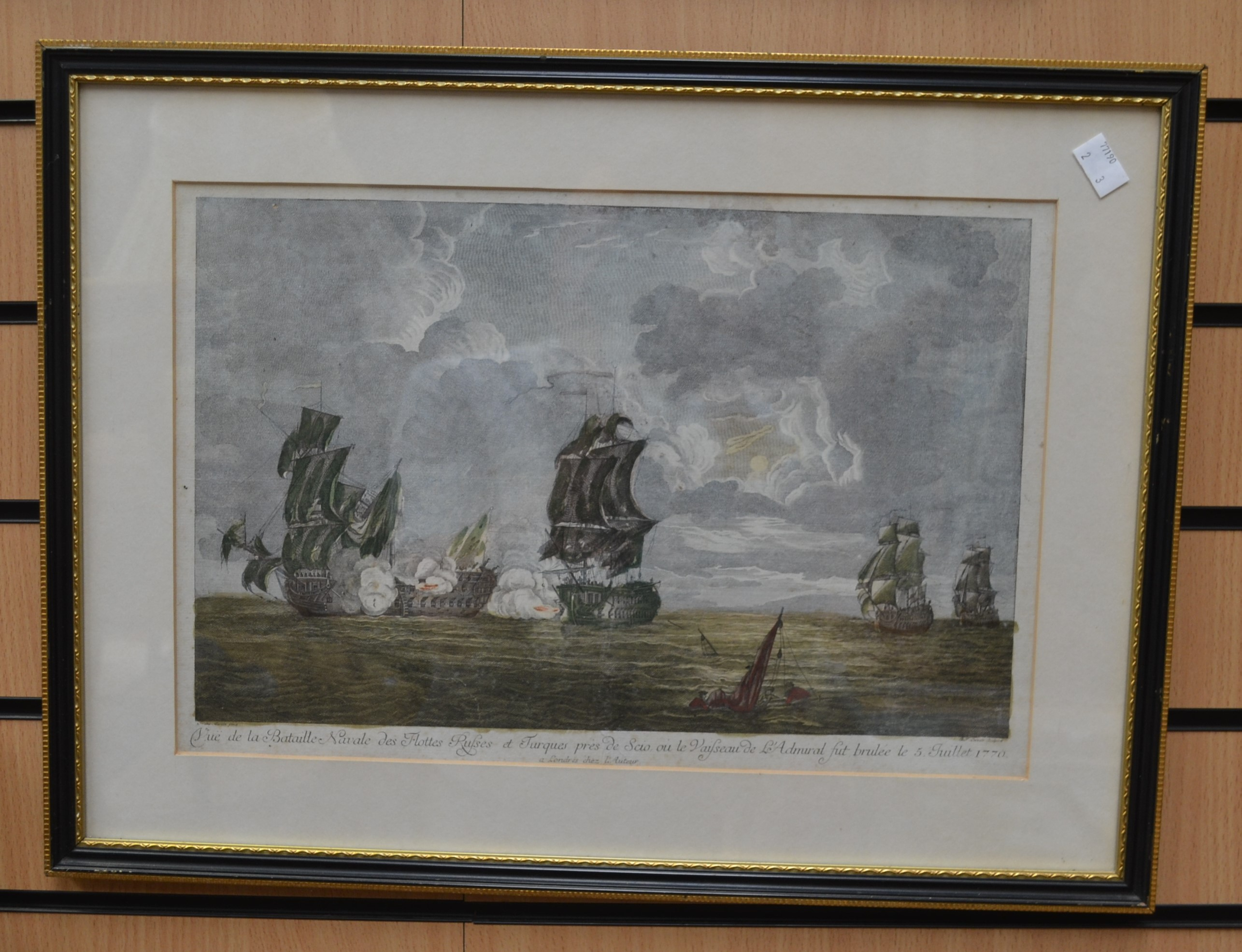 Lot 2092 - Three 19th Century etchings of sea and hunting scenes