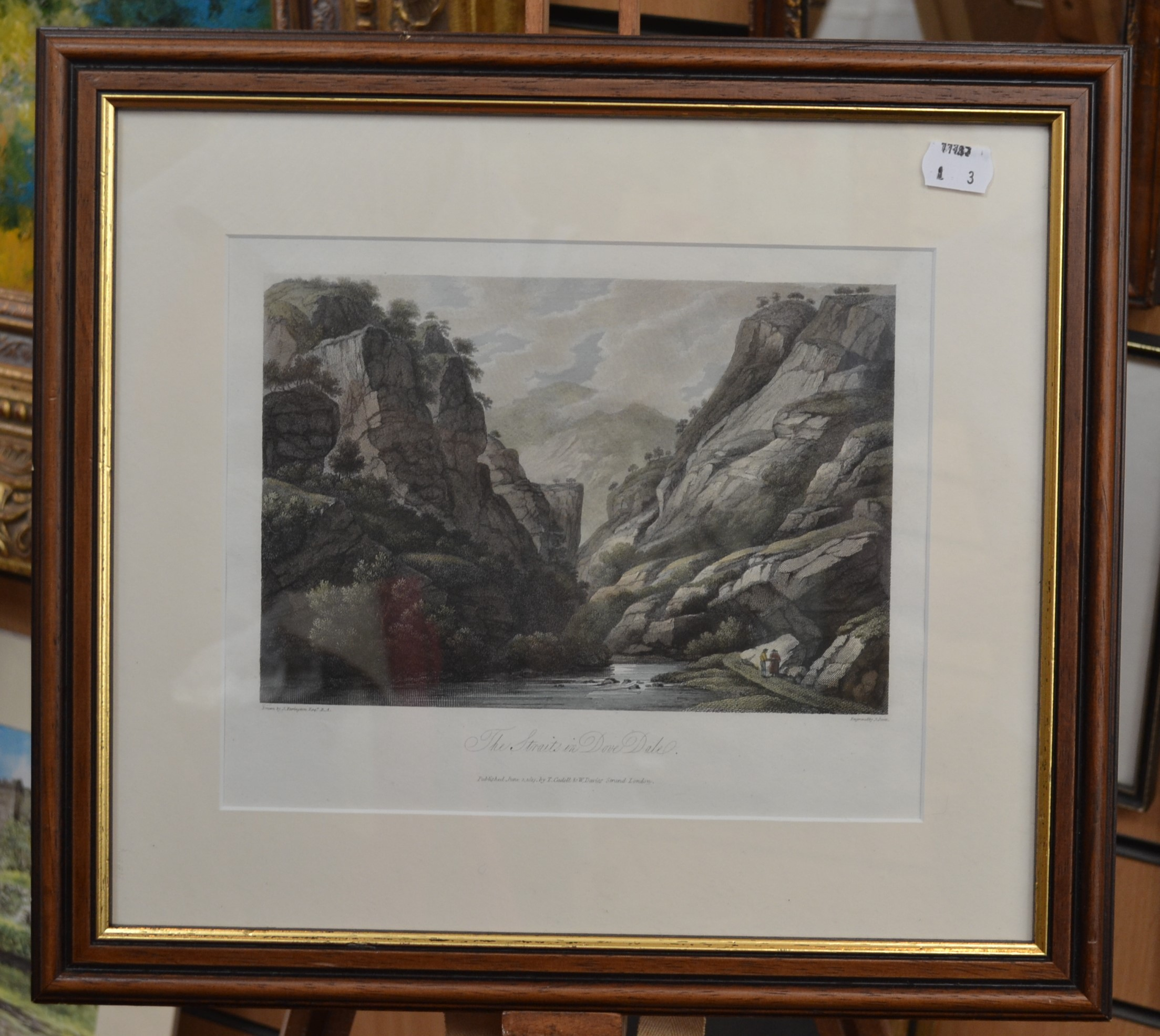 Lot 2019 - A collection of prints, The Straits in Dovedale, Derbyshire, 1871, by J.