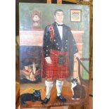 Lot 2014 - Oil on panel painting of Royal House of Scotland