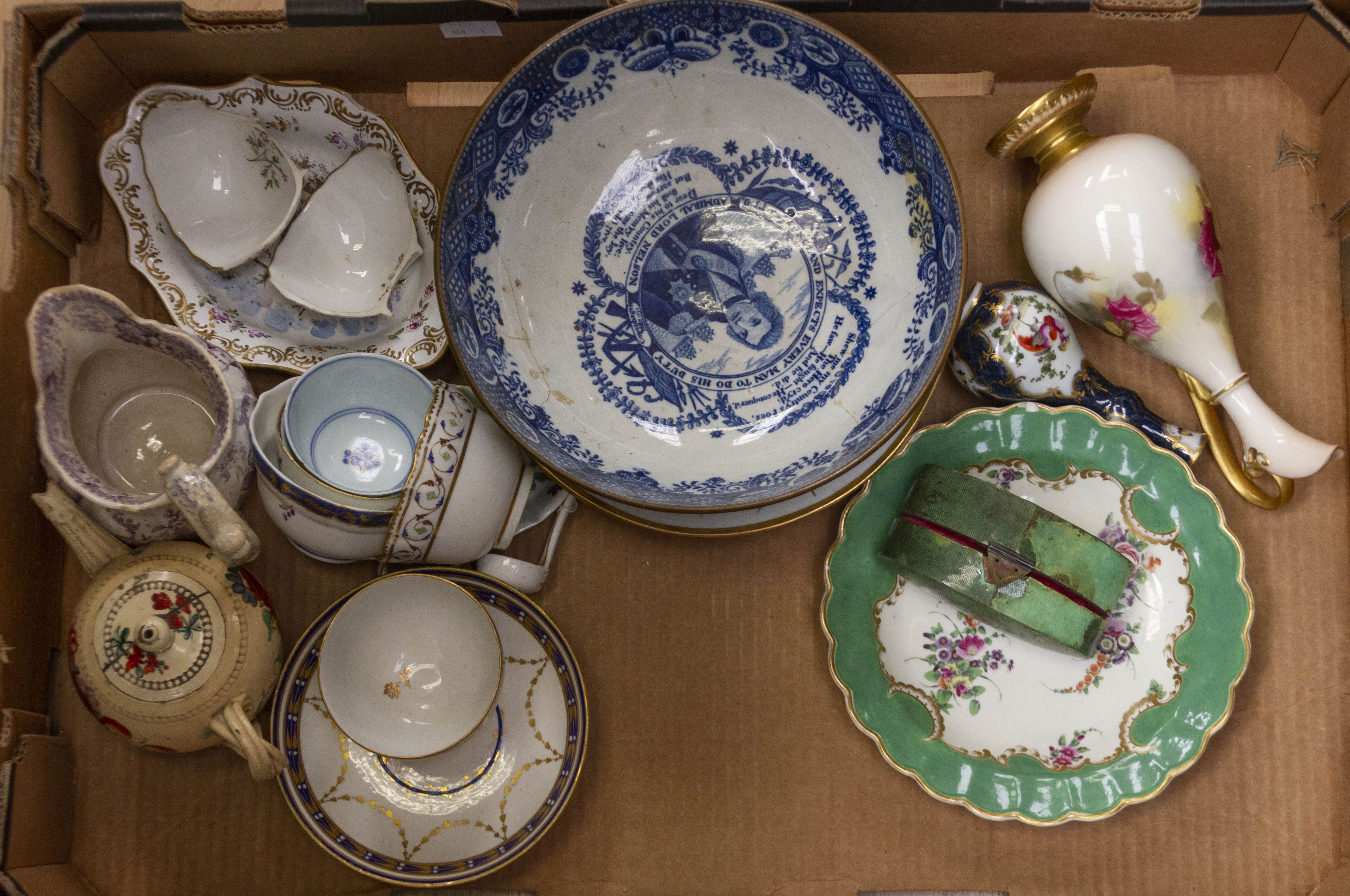 Lot 1458 - A quantity of 18th and 19th century ceramics, Derby,
