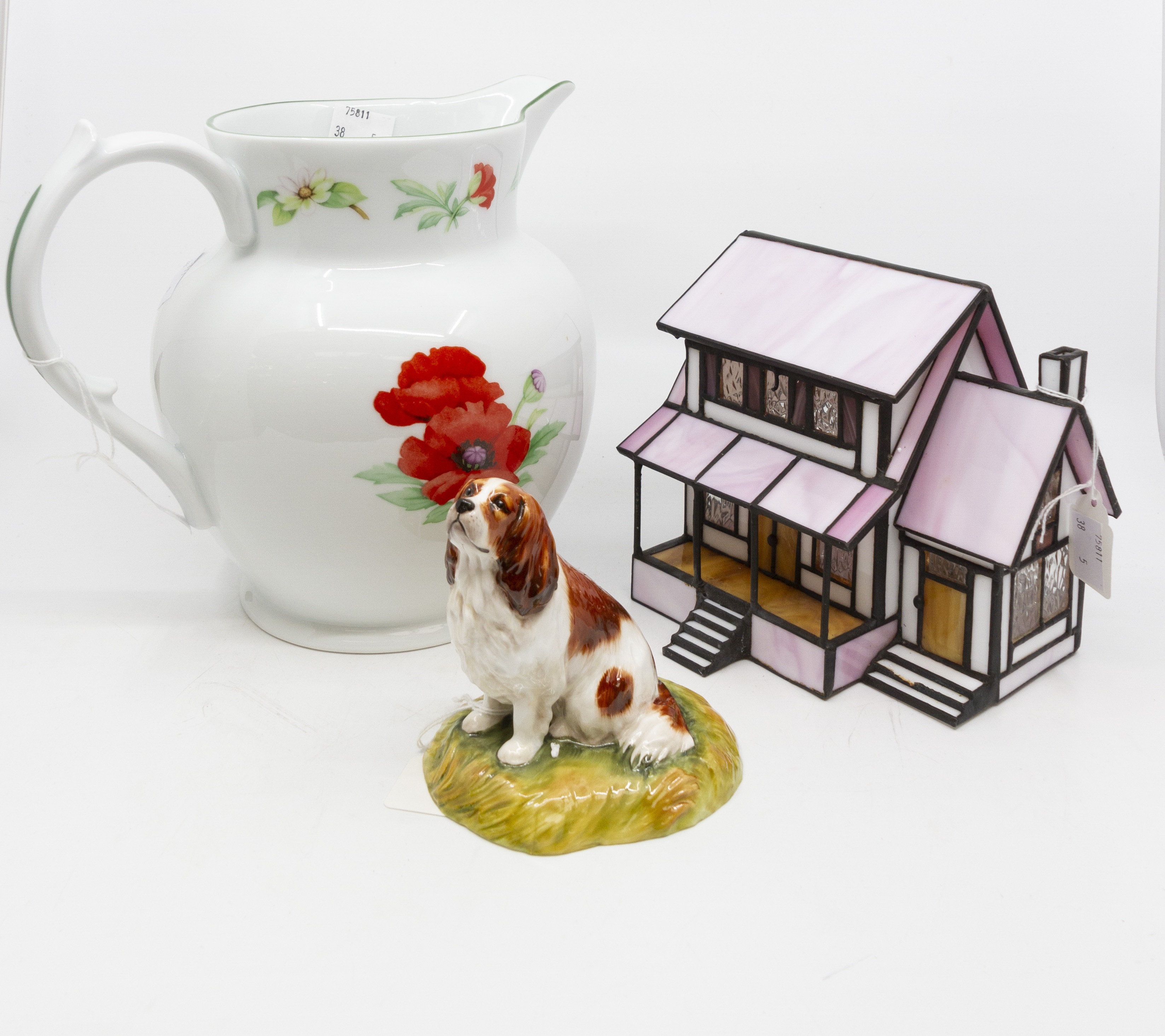 Lot 1257 - Ceramics to include Royal Worcester Poppy Jug, Royal Stratford Cavalier King Charles,