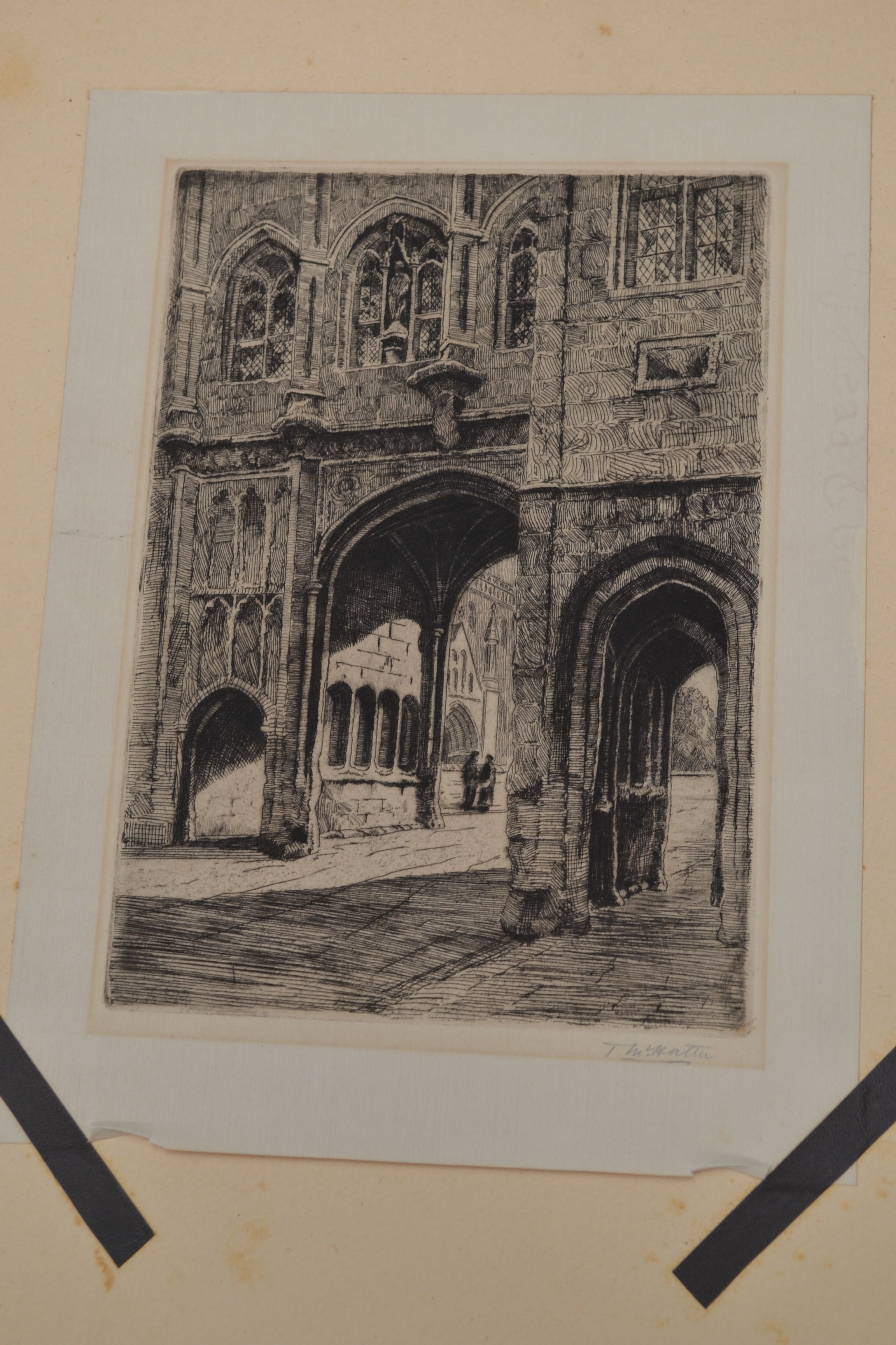 Lot 2013A - Collection of 10 signed etchings, including Wallace Hester, T. M. Hattie, E.