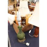 Lot 4549 - A collection of table lamps with one standard lamp (Q)