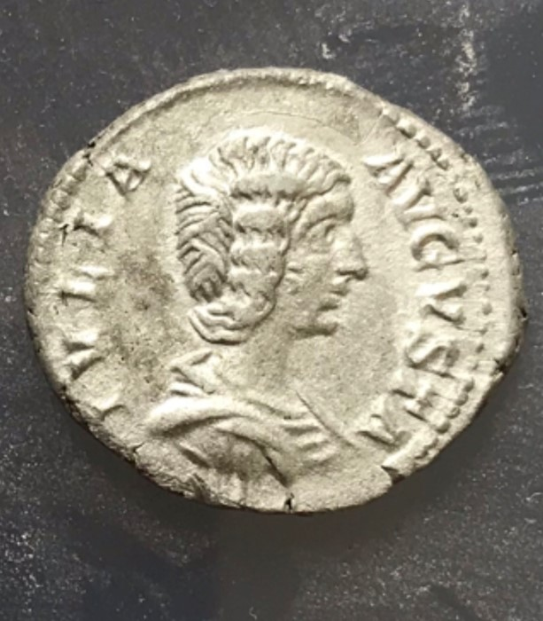 Lot 56 - A silver denarius of Julia Domna (AD 193-217) dating to c. AD 196-211. Obverse: IVLIA AVGVSTA,