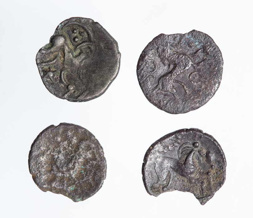 Lot 18 - A collection of four uninscribed silver units of the North Eastern Region/Corieltavi, dating c. 60-