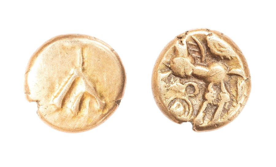 Lot 16 - An inscribed quarter stater of the Southern Region/Atrebates and Regni probably struck under Commius