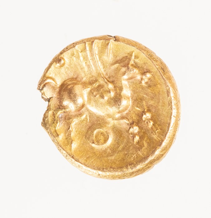 Lot 12 - An inscribed gold quarter stater of the Southern Region/Atrebates and Regni, struck under