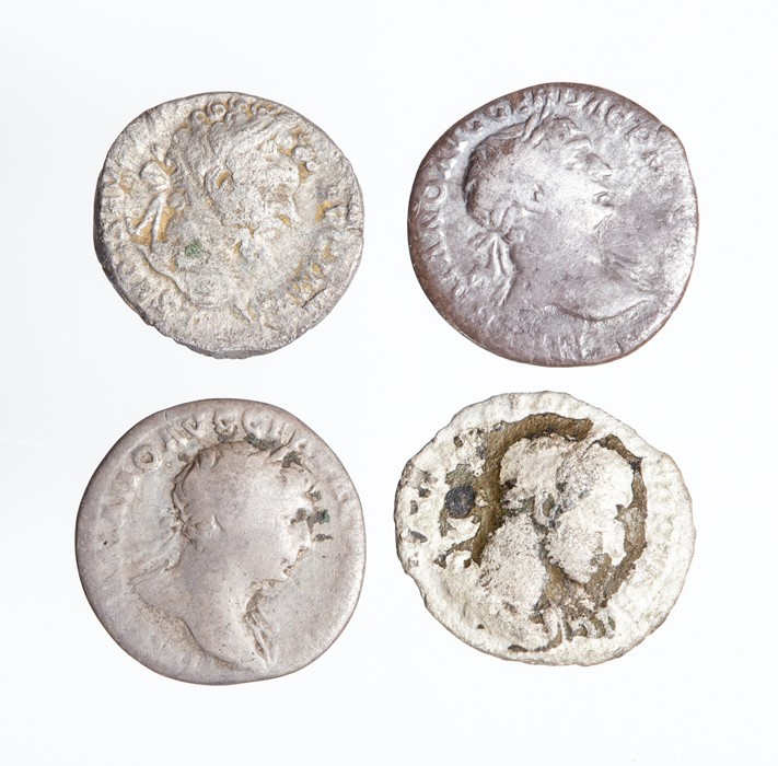 Lot 55 - A mixed lot of four silver Roman denarii from the 2nd and early 3rd century. Represented in this