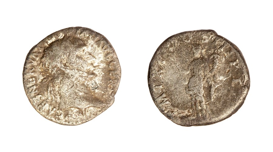 Lot 58 - A silver denarius of Trajan (AD 98-117) dating to c. AD 100. Obverse: IMP CAES NERVA TRAIAN AVG