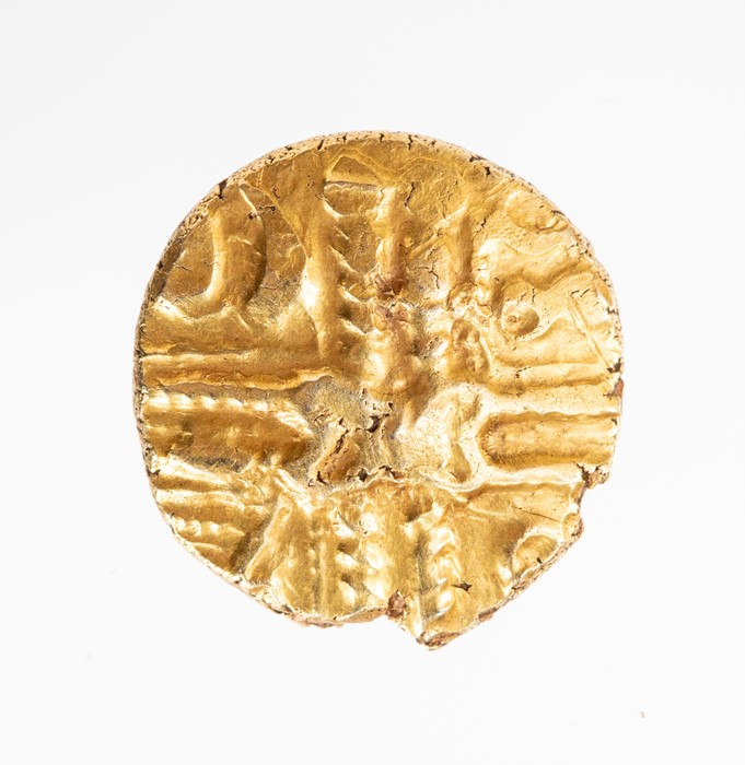 Lot 4 - An uninscribed 'British LB' gold stater of the North Thames Region/Catavellaunii, probably dating