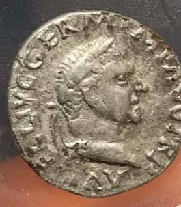 Lot 59 - A silver plated fourée denarius of Vitellius (April to December of AD 69) dating to AD 69. Obverse: