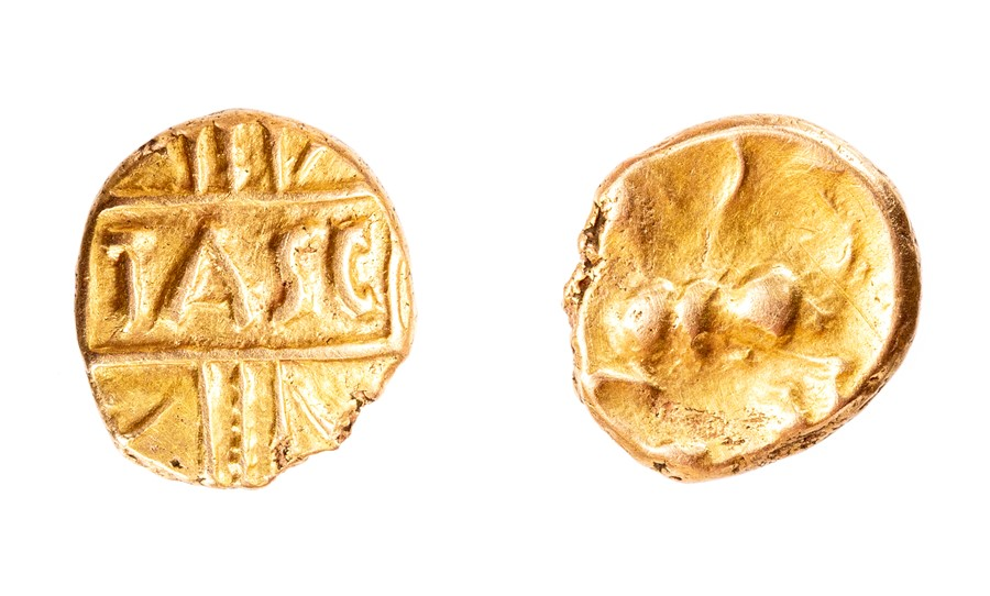 Lot 28 - A gold inscribed quarter stater of the North Thames Region/Catavellaunii, struck under