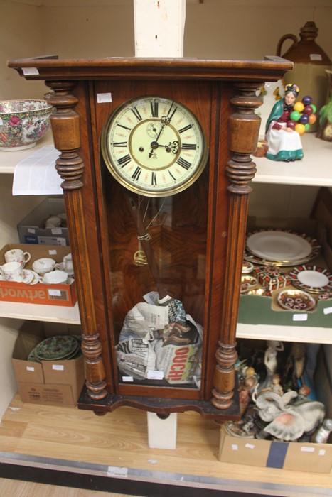 Lot 4008 - Gustav Becker; a German 8 day Vienna regulator, mahogany case, Roman numeral dial