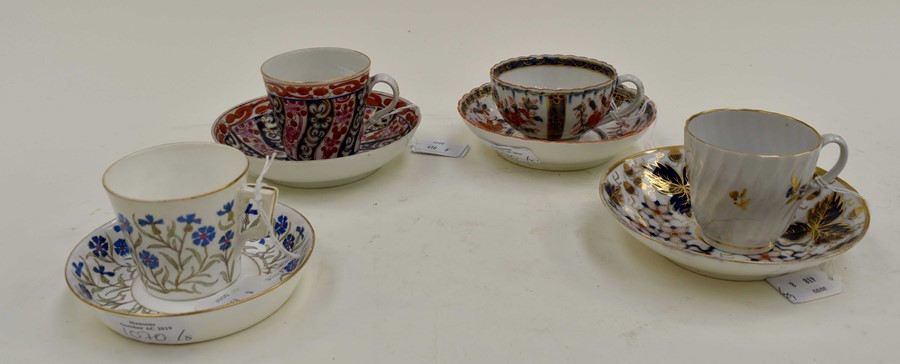 Lot 1070 - A Mintons coffee cup and saucer. Barbeaux style, pattern number G4362. Circa 1891-1912. Size -