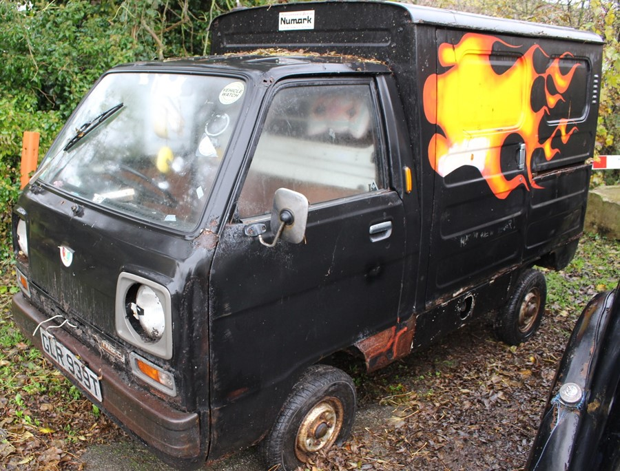 Lot 3387 - A Honda Acty 'Sooty-mobile', complete with paperwork and manual, restoration project.