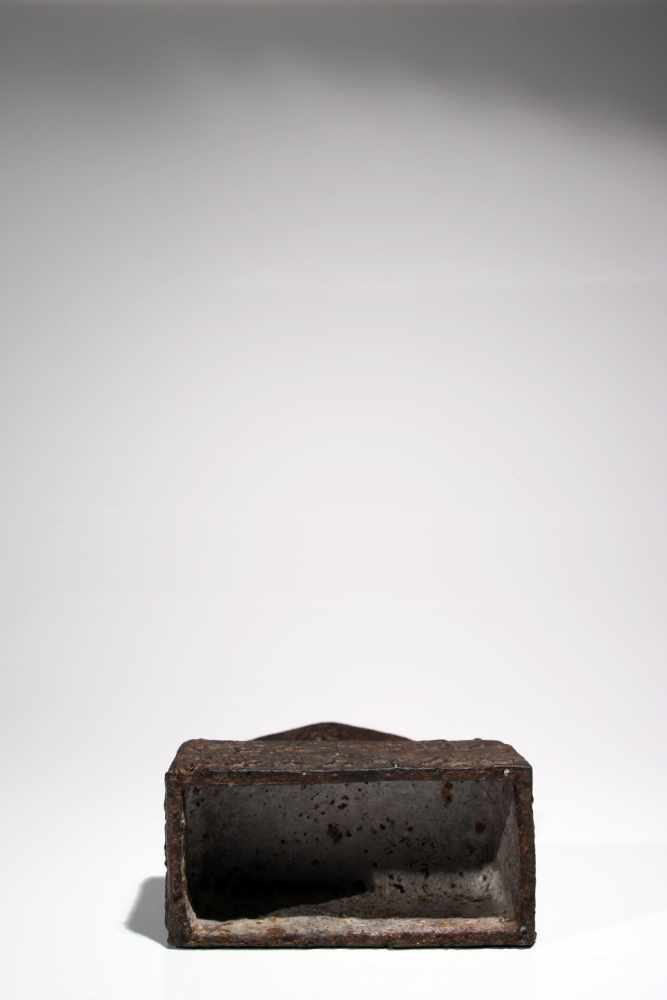 Lot 51 - 2 GuanjinIronChina18th ctH: 49 cmWe see a statue cast in iron, showing a higher rectangular base. On